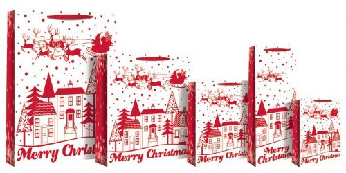 Merry Christmas Bag (Red / White)